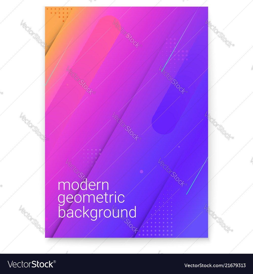 Poster with modern gradient and minimalistic