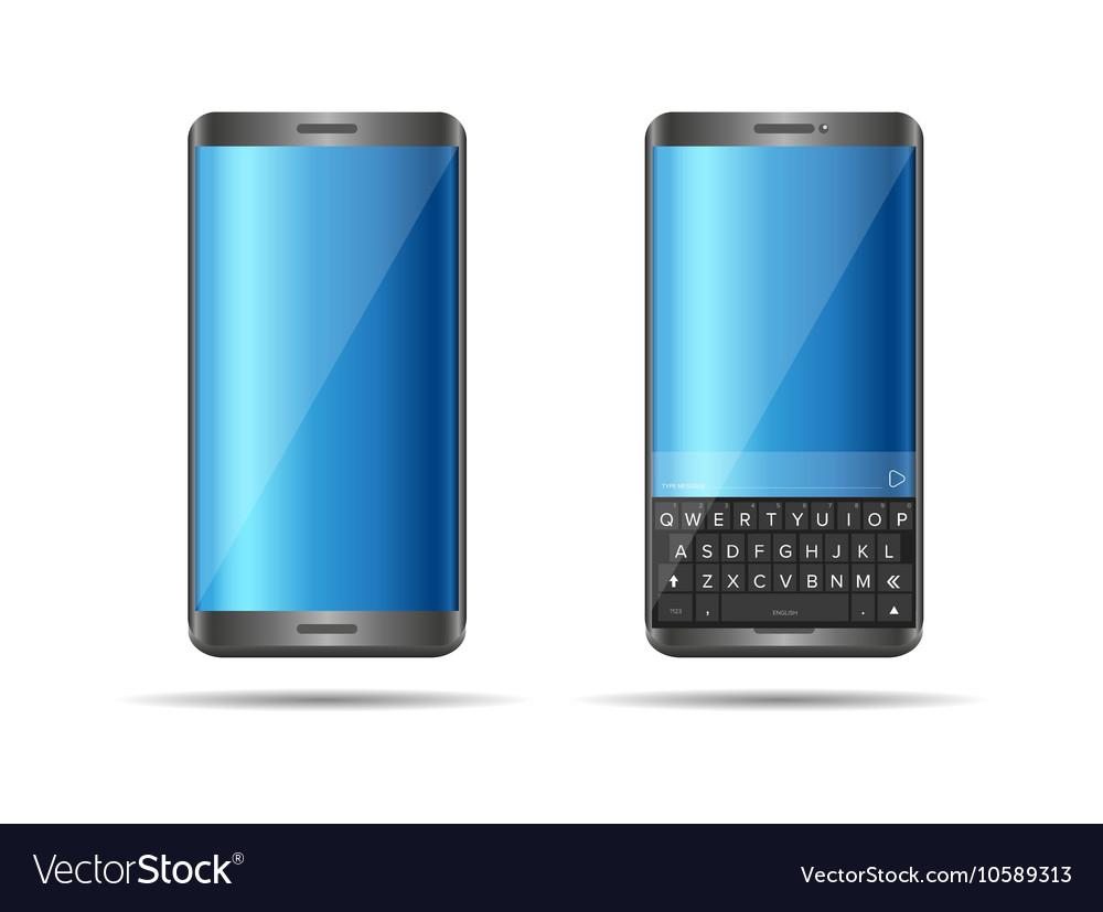 Smartphone with full keyboard