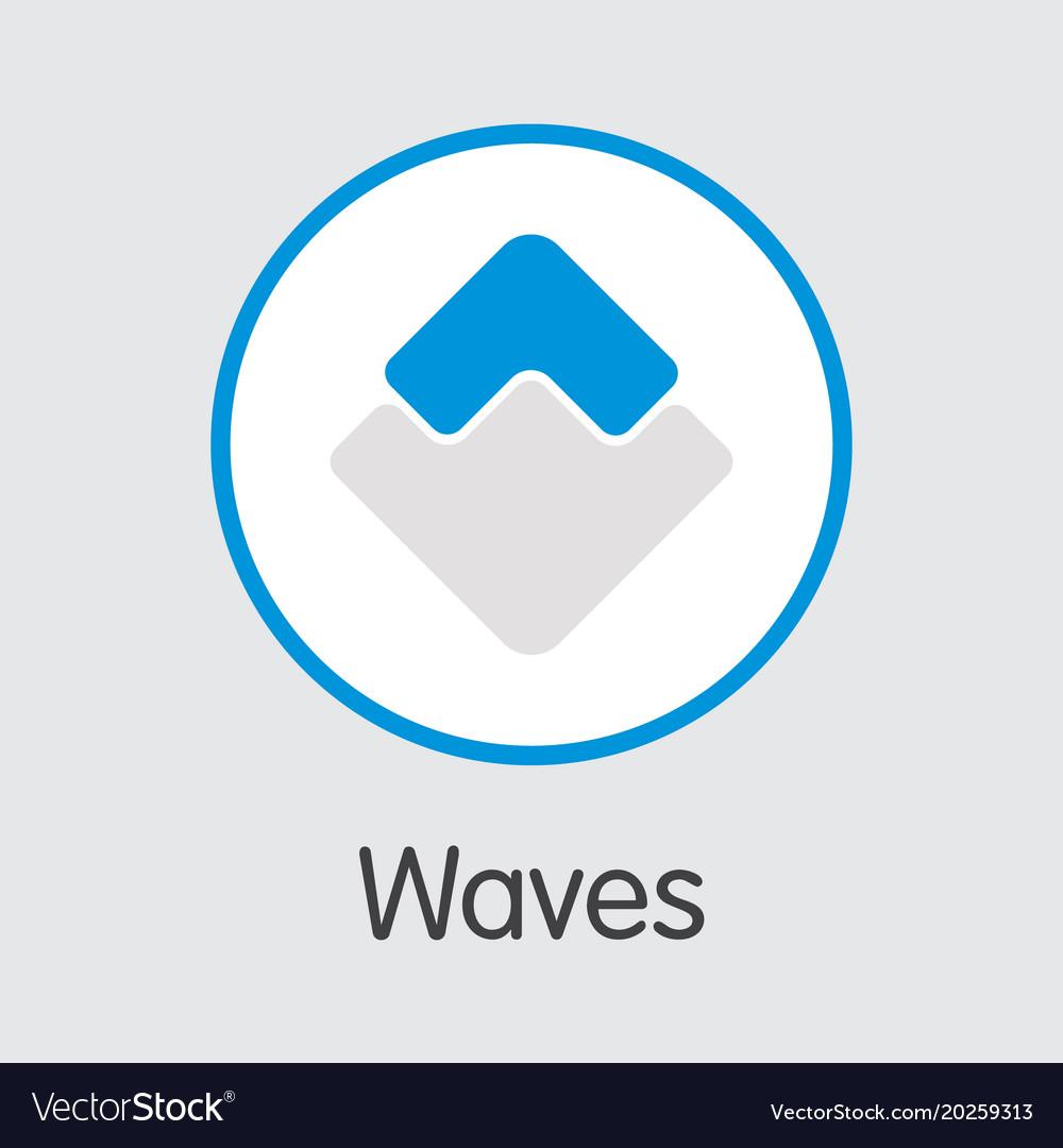 Waves Crypto Figurative Logo Mundmaske