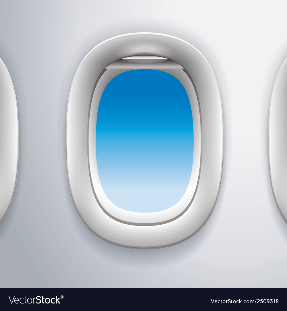 Airplane windowstravel vector image
