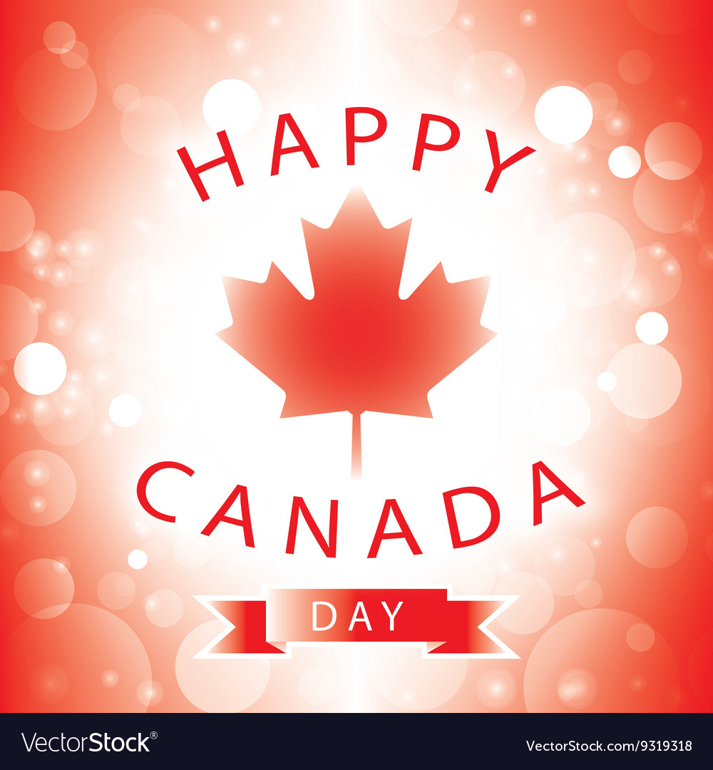 Happy canada day greeting card royalty free vector image happy canada day greeting card vector image m4hsunfo