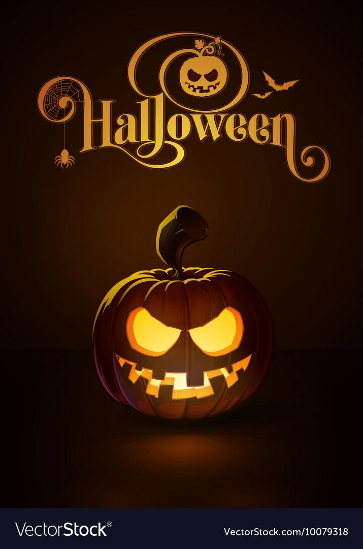 Jack o Lantern Dark Toothy Smile vector image
