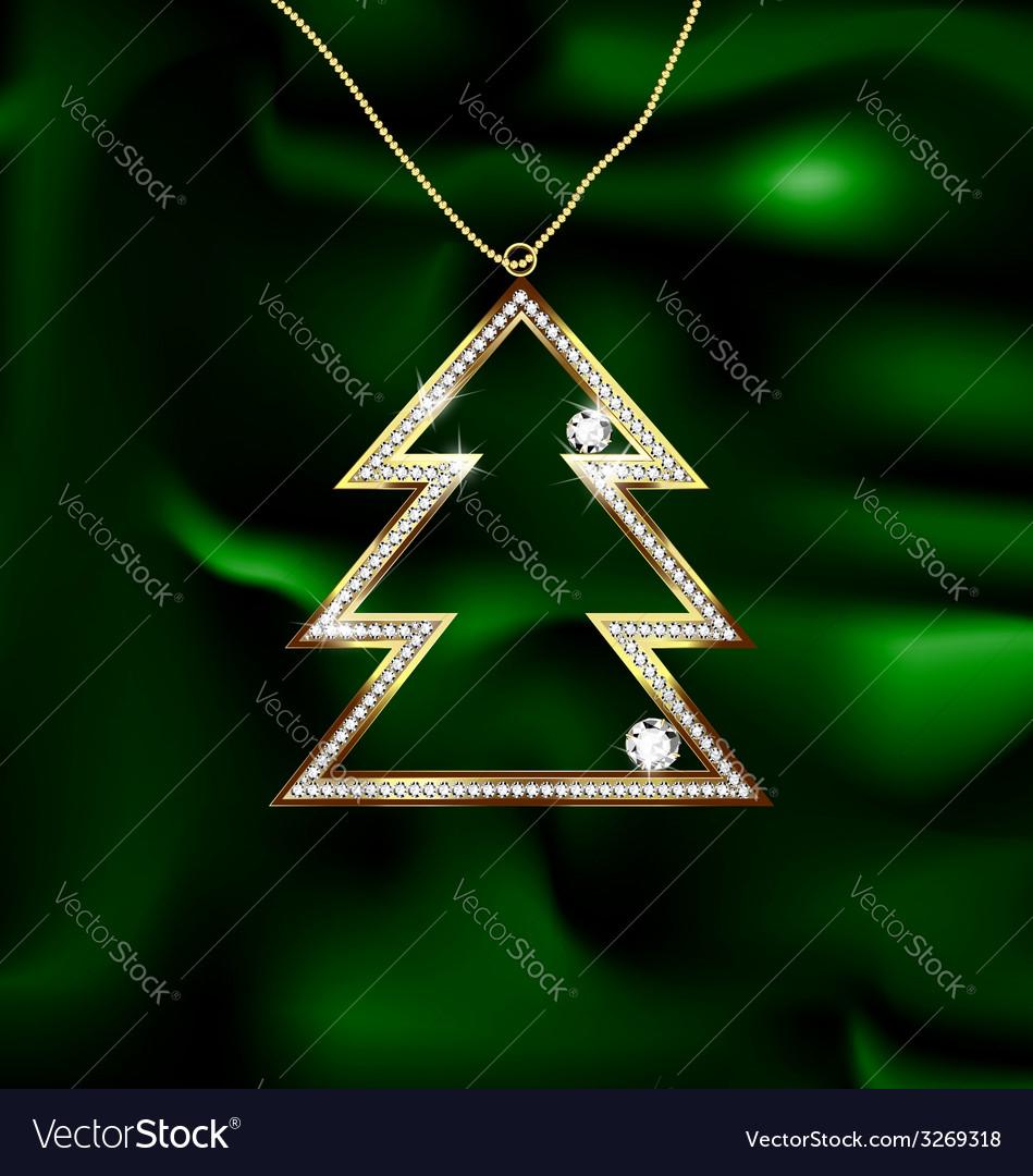 Jewel Christmas tree Royalty Free Vector Image