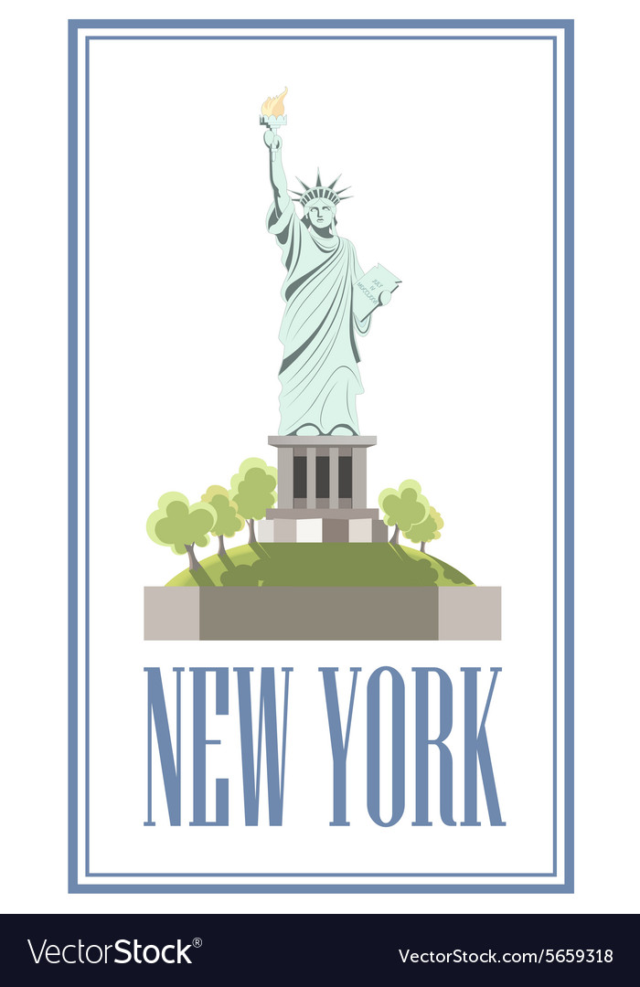 New-York Isolated statue of liberty on white