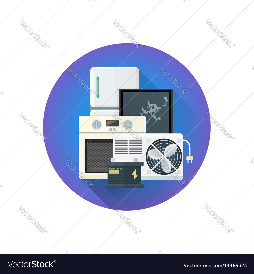 Bulky electrical waste icon vector image