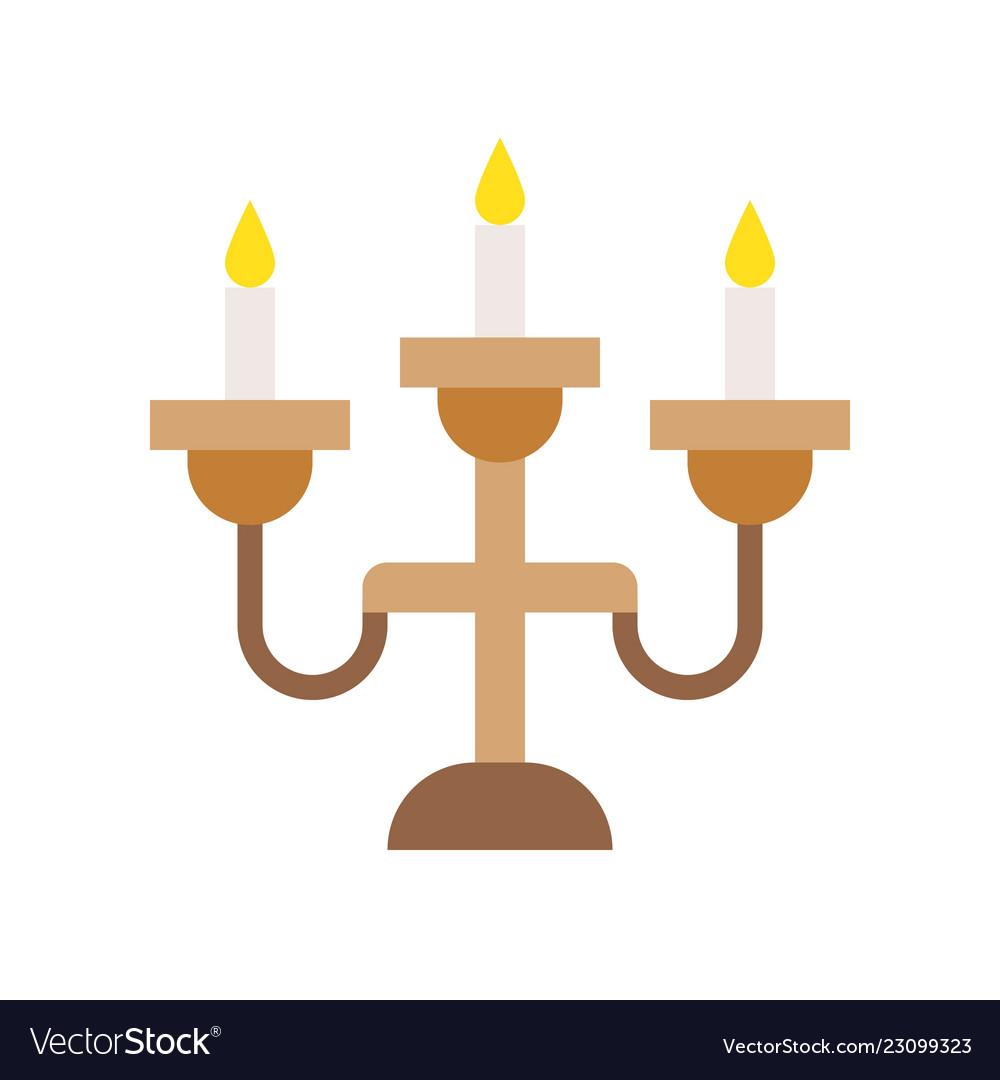 Lantern or lamp icon flat style