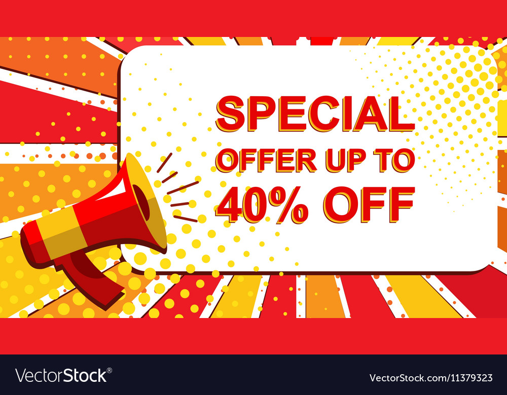 Megaphone with SPECIAL OFFER UP TO 40 PERCENT OFF