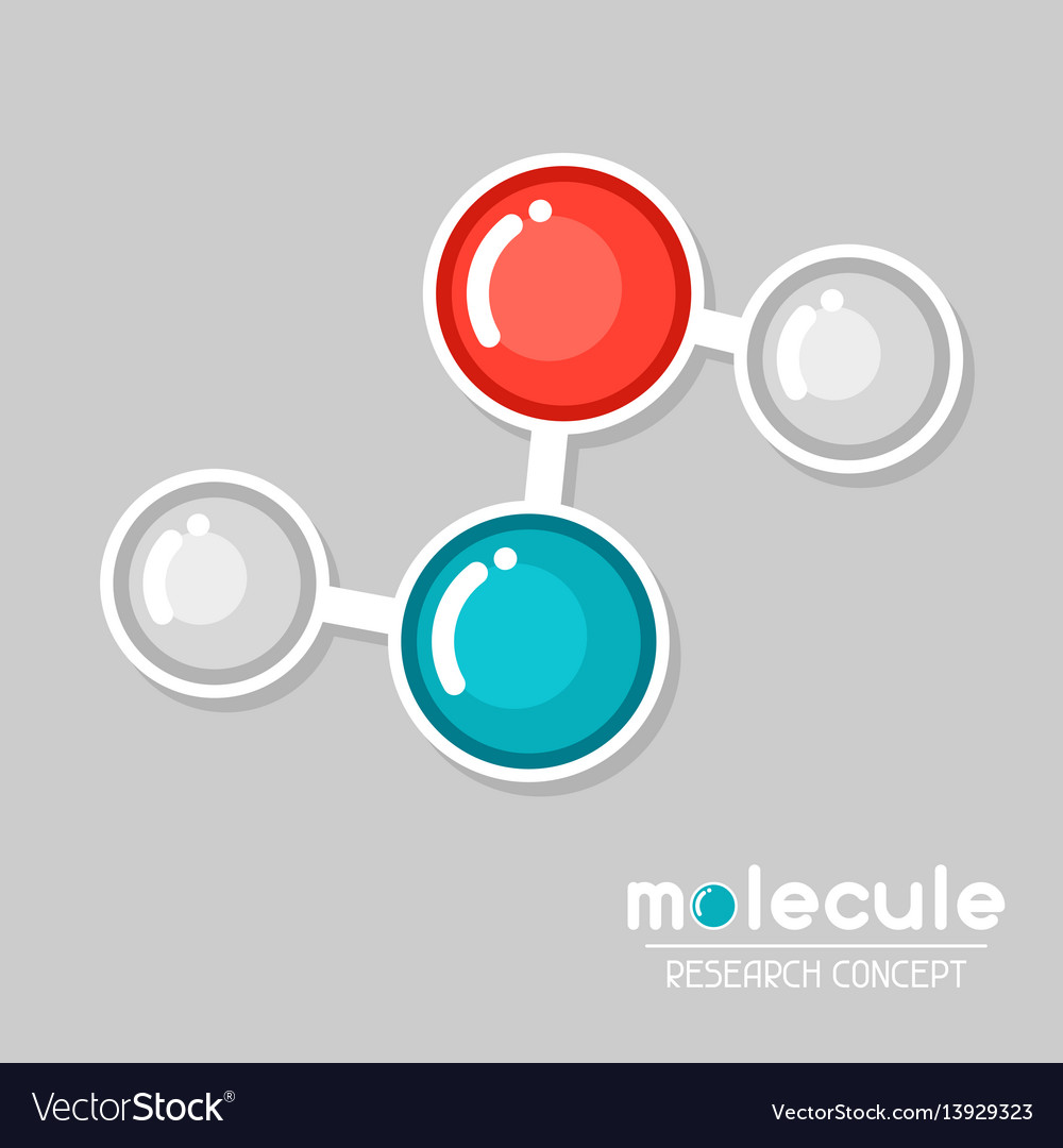 Molecular structure emblem research concept in