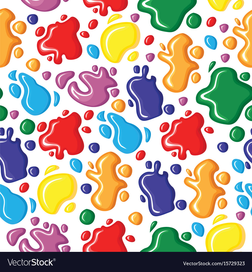 Pattern seamless of paints drops and blots vector image