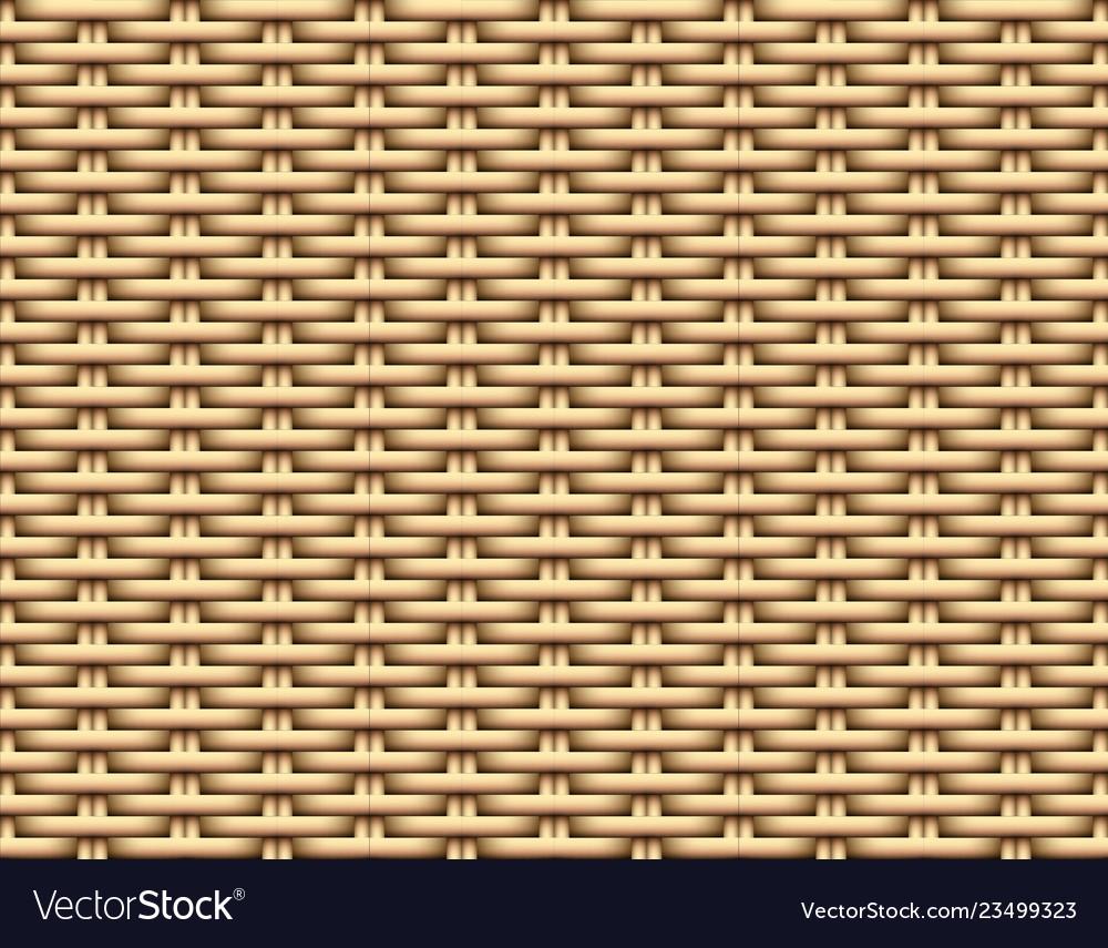 Seamless 3d brown rattan pattern art