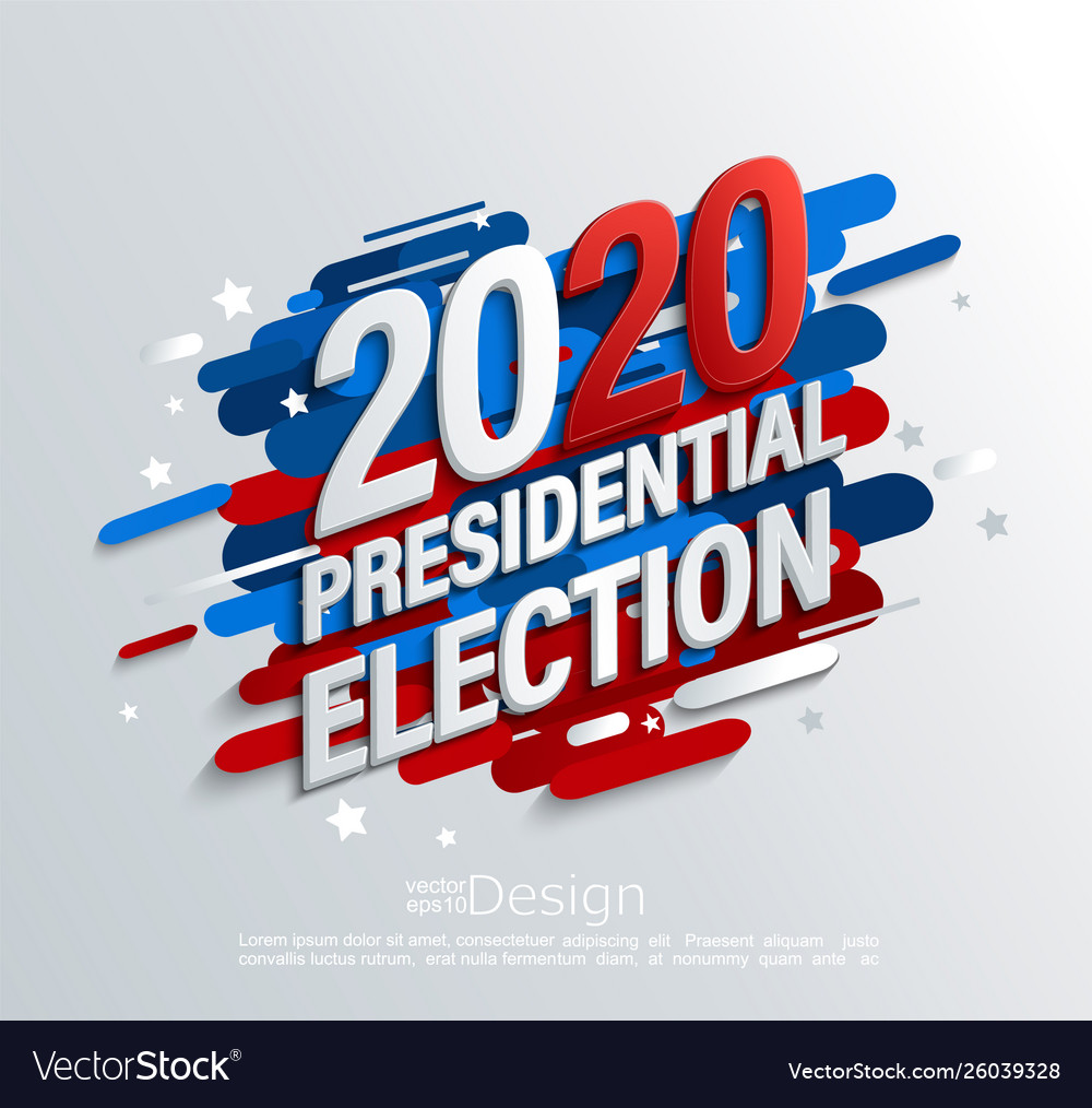 2020 Usa Presidential Election Banner Royalty Free Vector