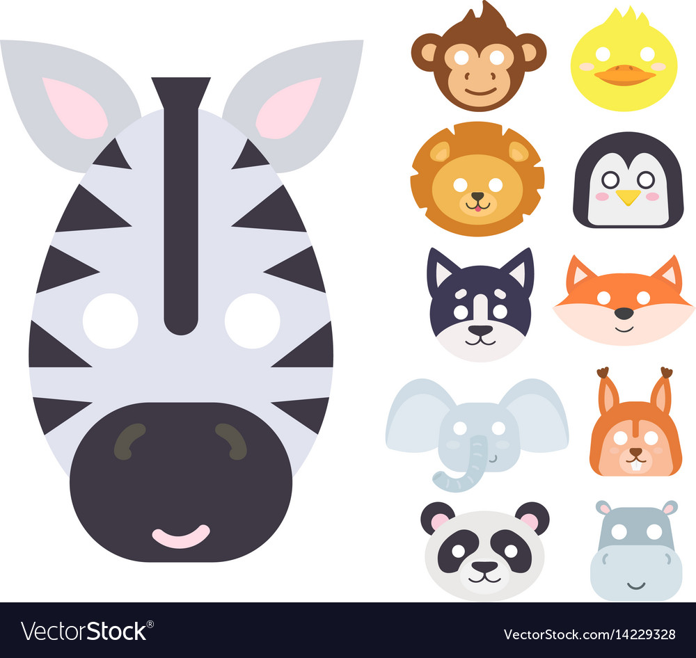 Animals carnival mask set festival