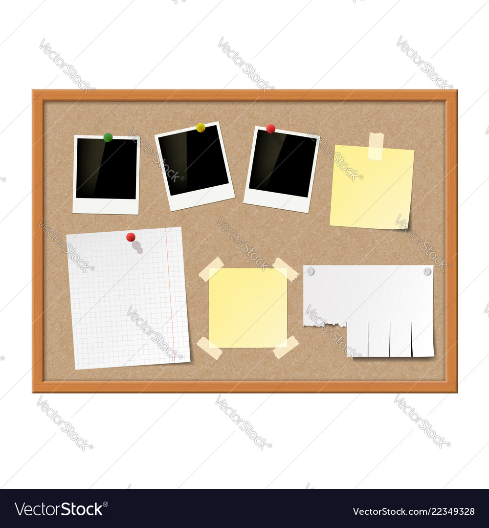 Empty photo frames paper notes