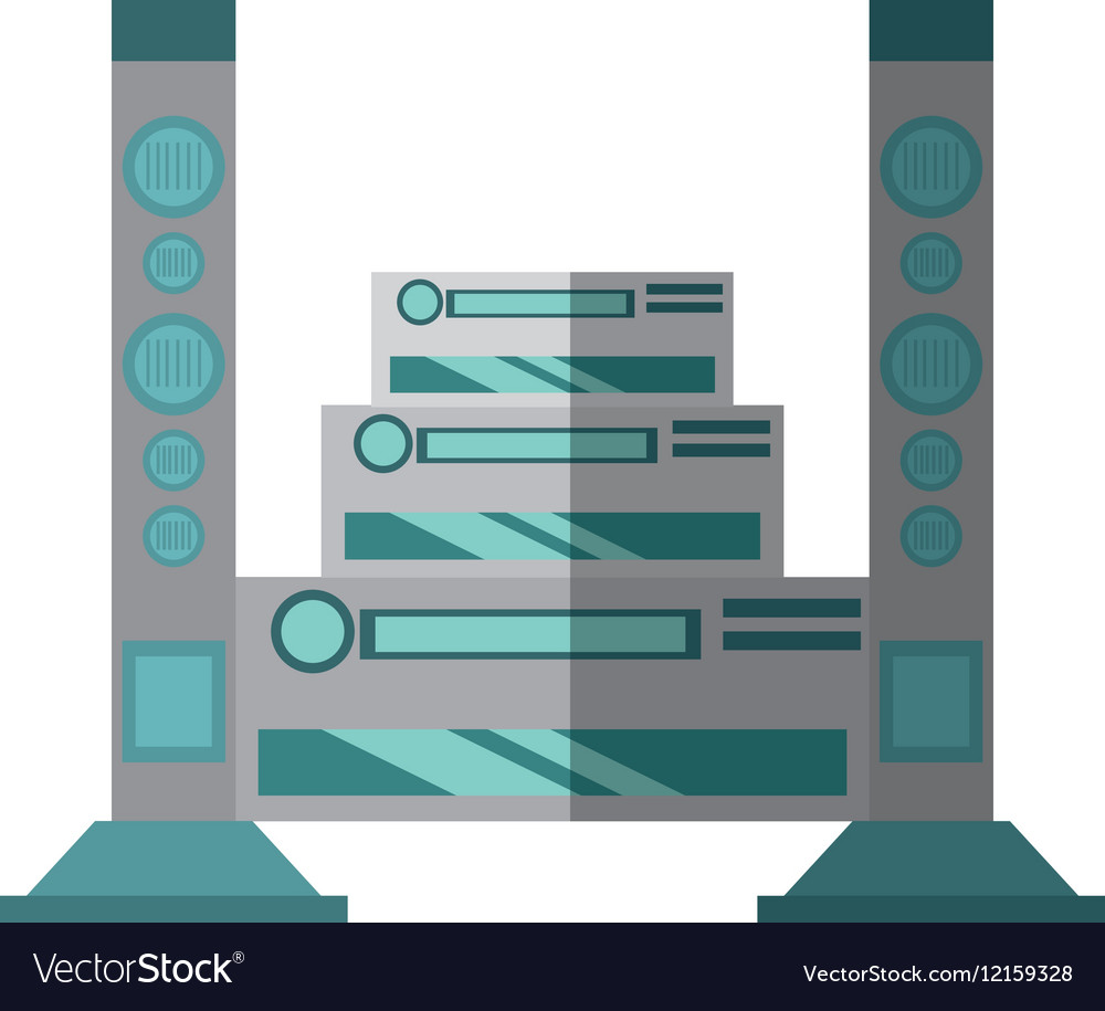 Home theater music video appliance shadow vector image