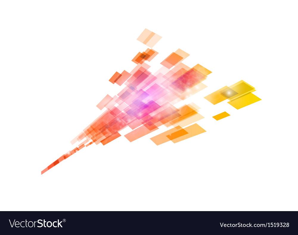 Square in arrow orange