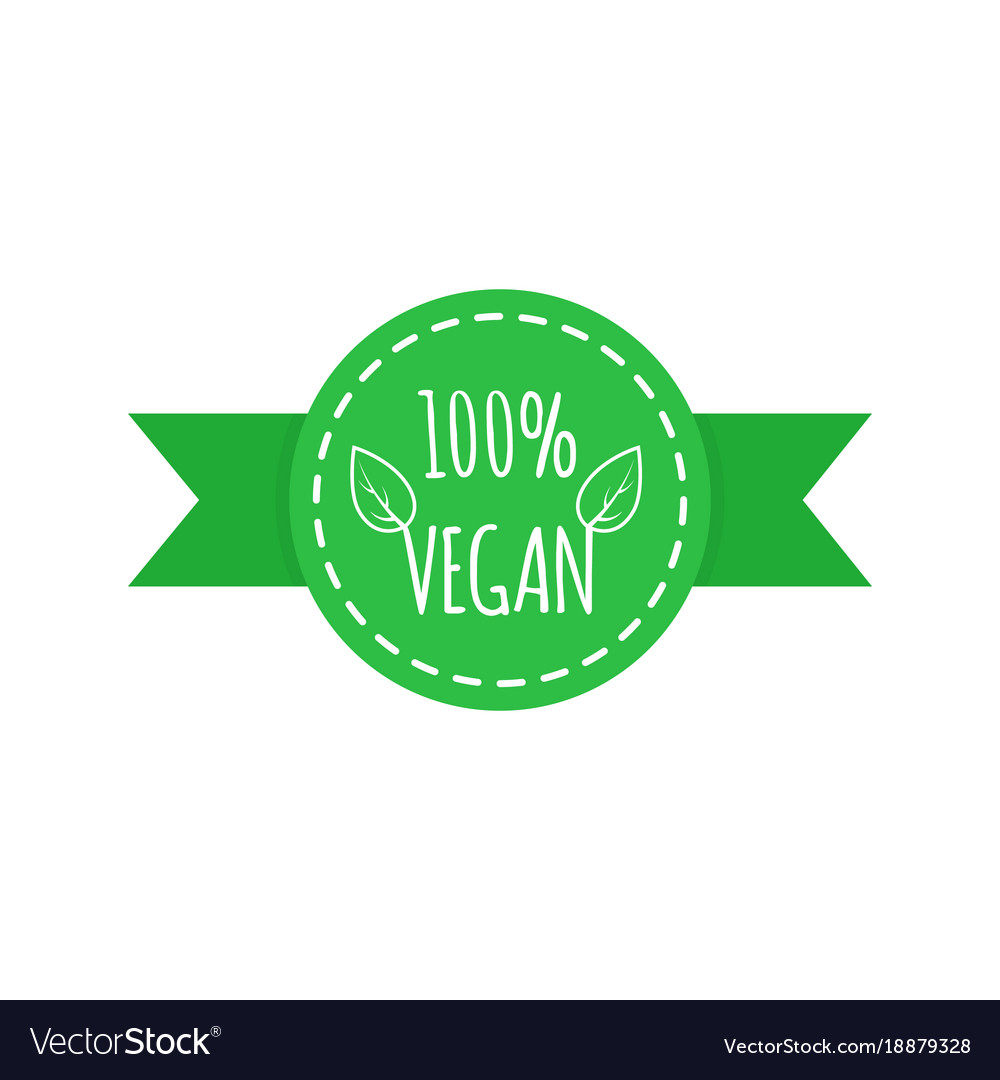 Vegan food icon elements for labels logos