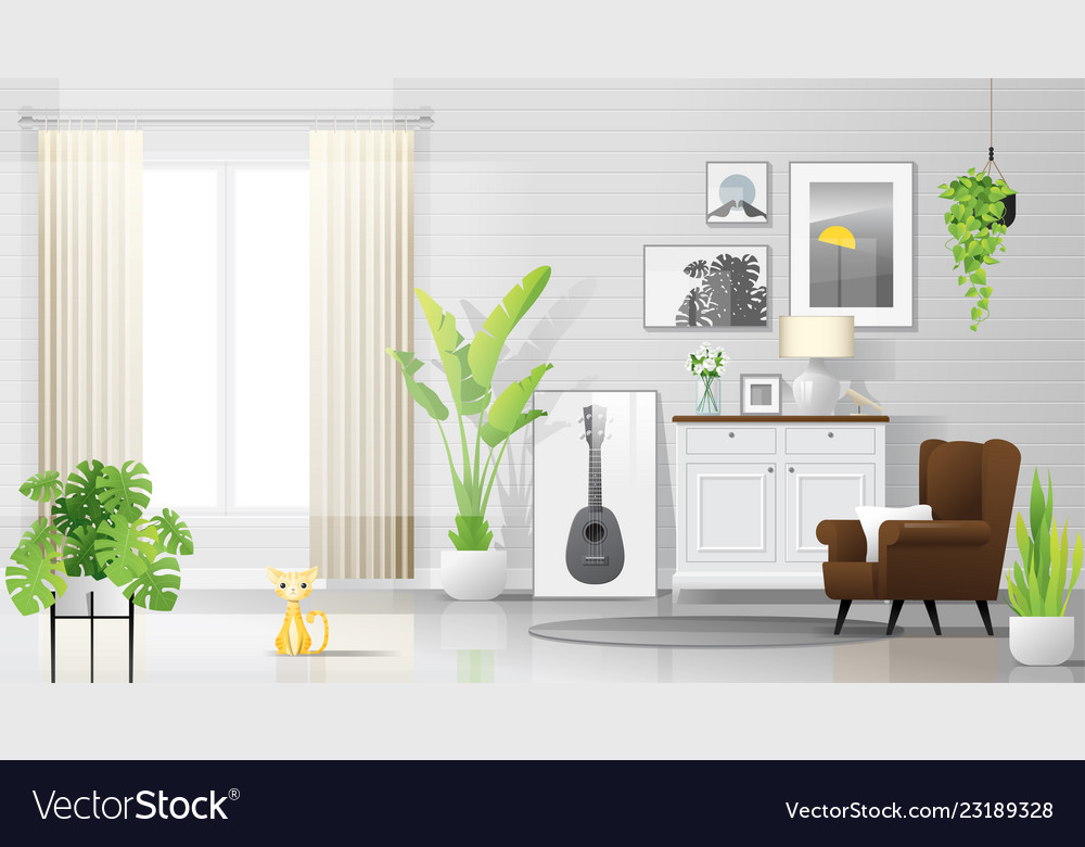 Warm And Bright Living Room Background
