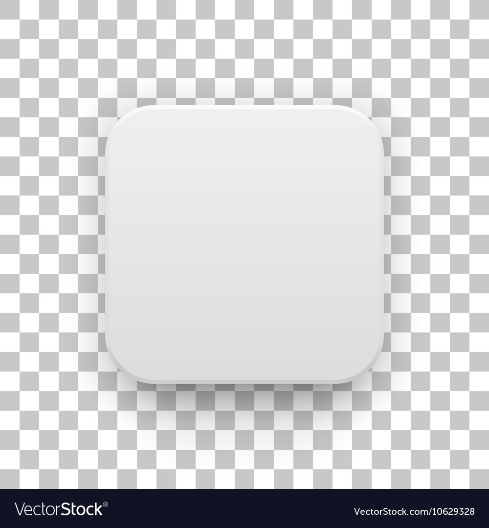 white blank app icon button template royalty free vector