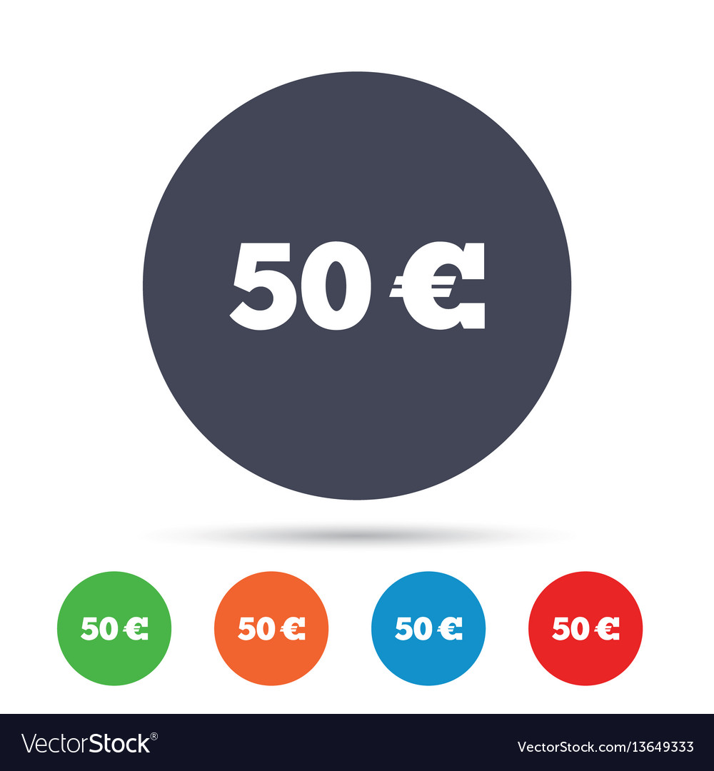 50 euro sign icon eur currency symbol