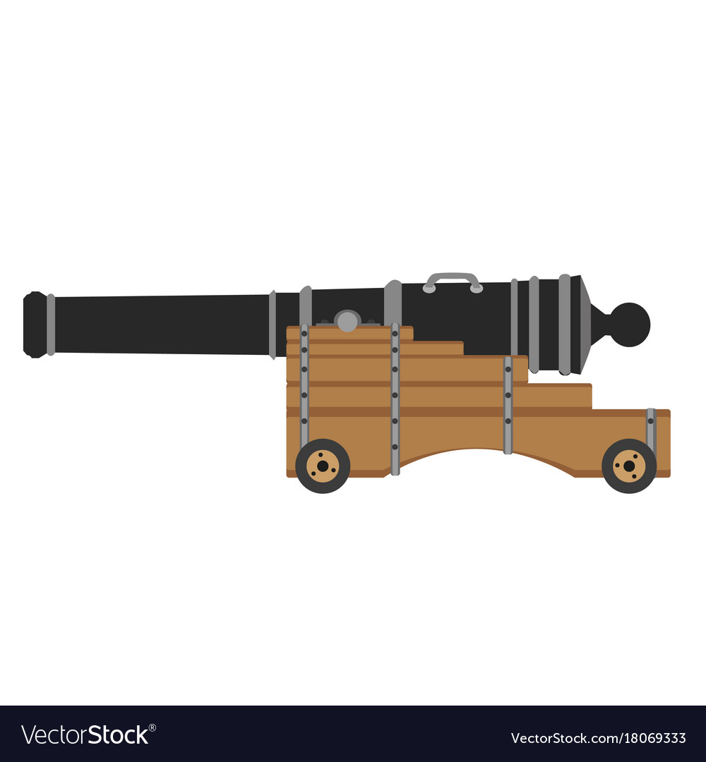 Artillery set cannon weapon army icon war