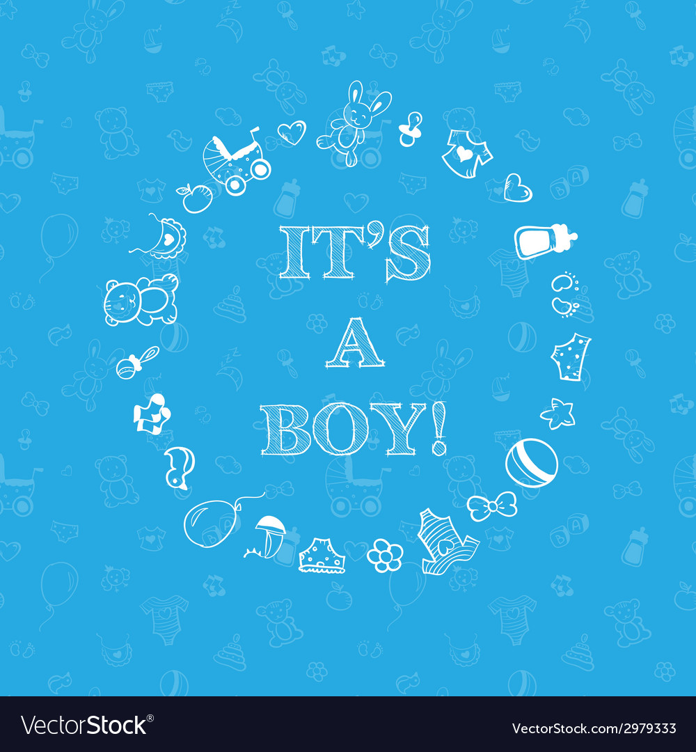 Baby shower design over blue background with