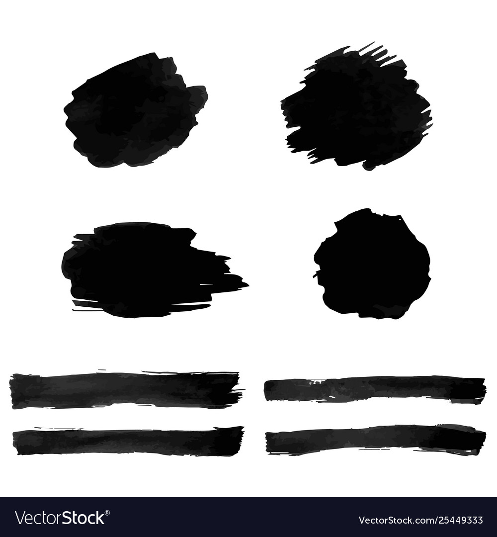 Black blot isolated