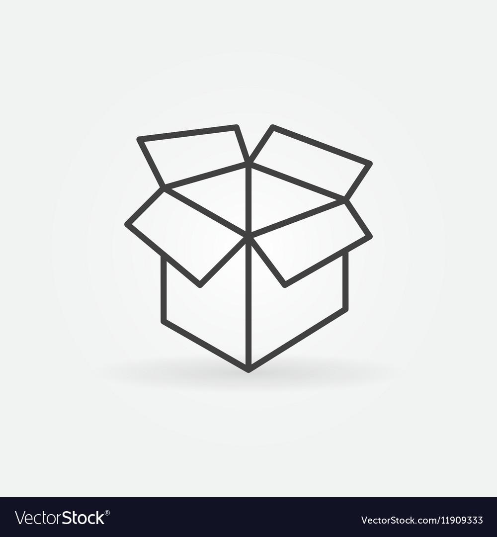 Carton box linear icon
