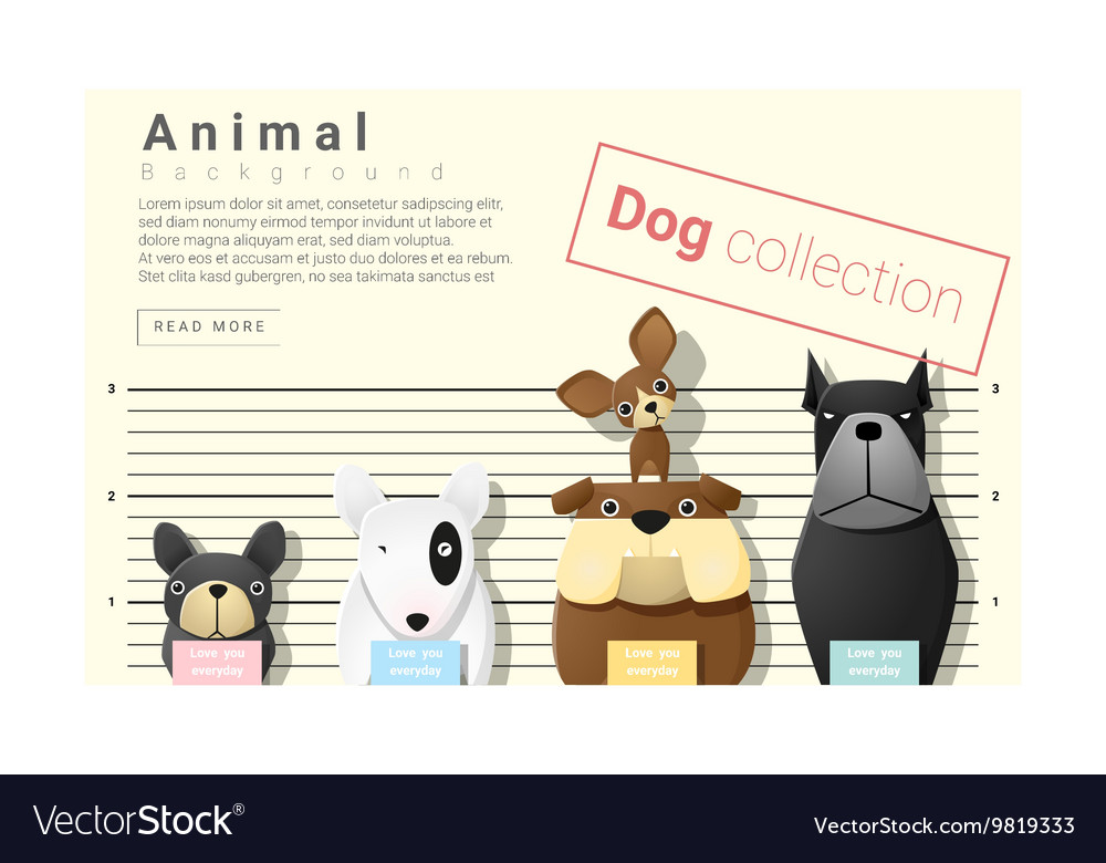 Cute animal family background with Dogs 4
