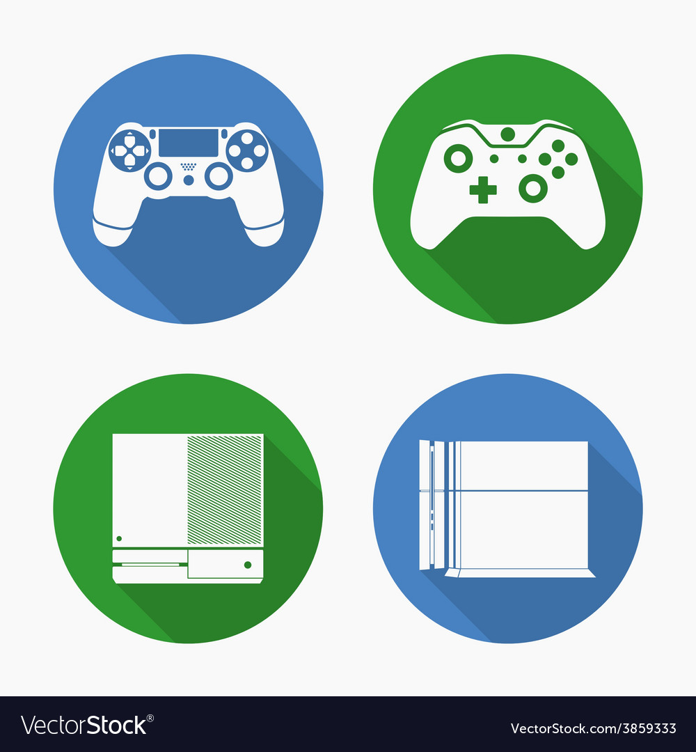 Entertainment consoles ps4 and xbox