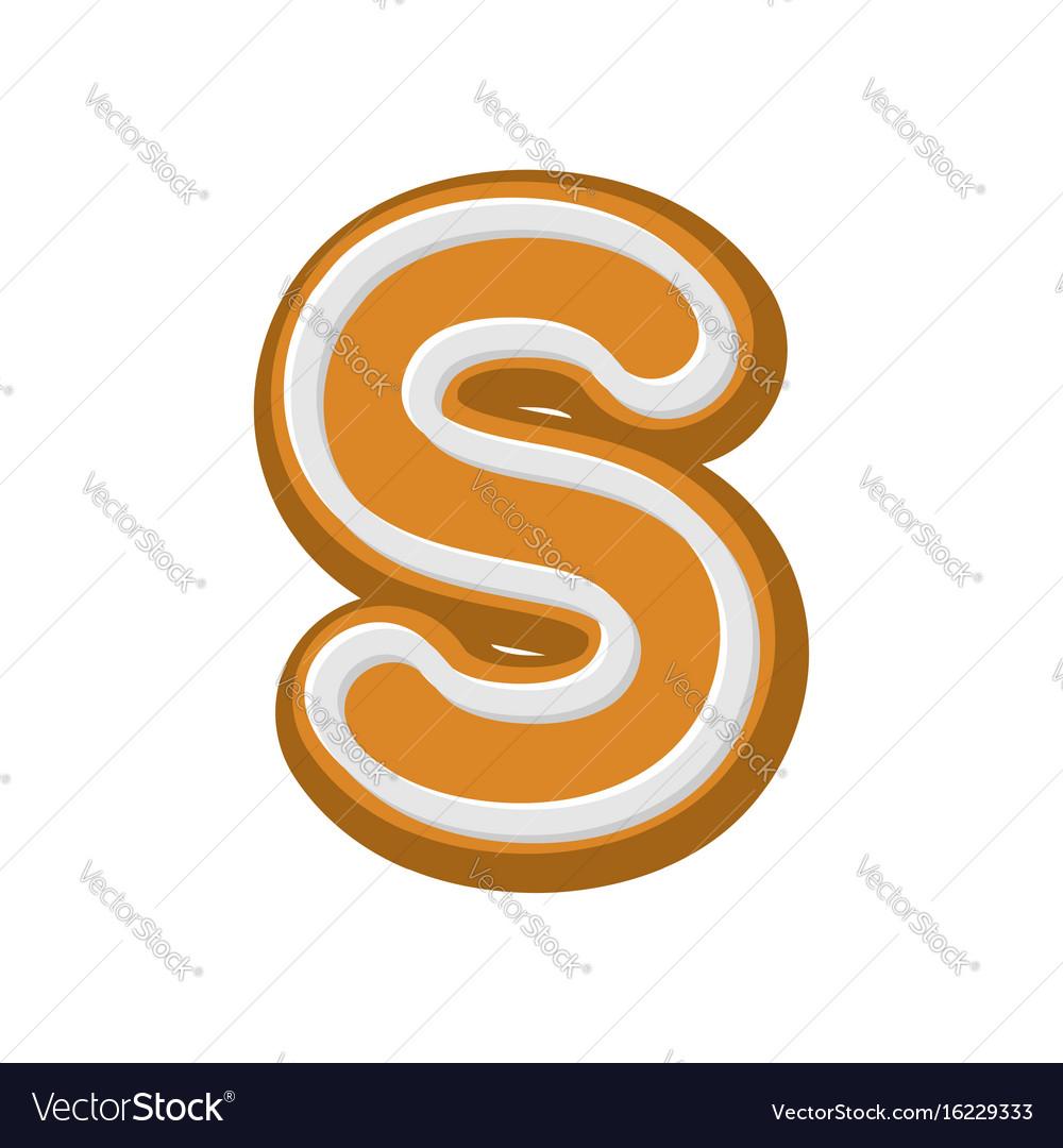 Letter v gingerbread peppermint honey-cake font