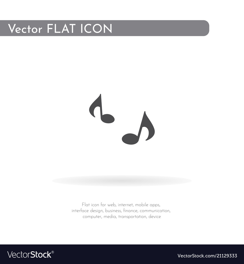 Music icon for web business finance and