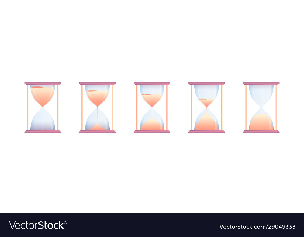 Set hourglasses at different stages countdown