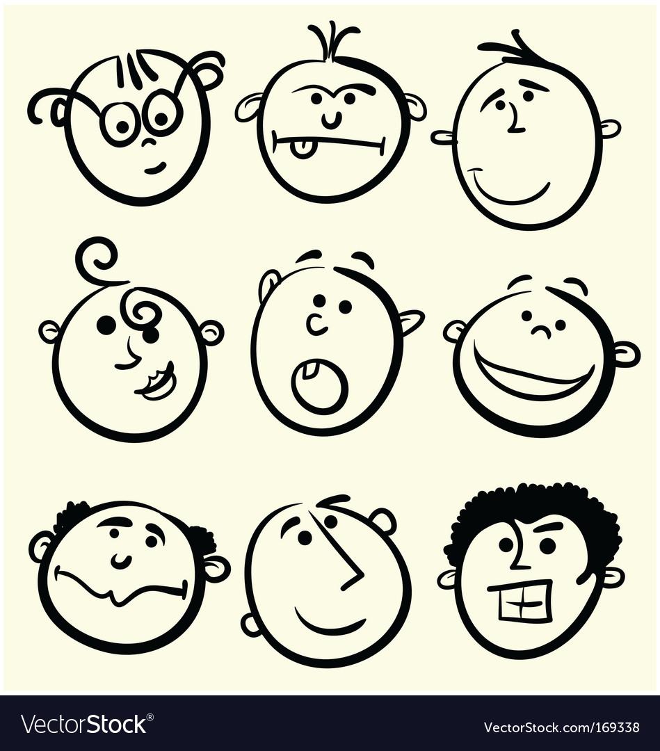 Cartoon face collection