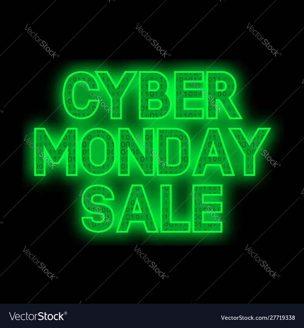 Cyber monday sale promotion banner