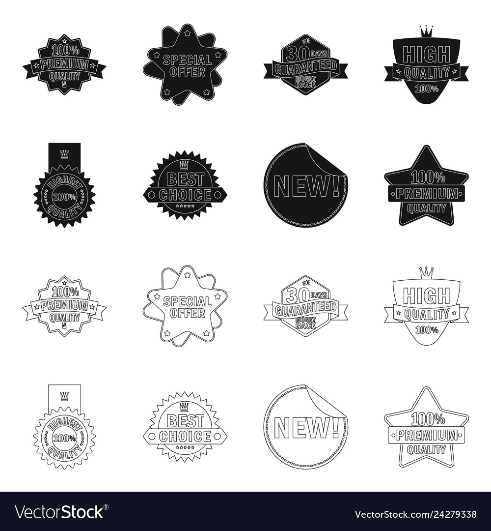Emblem and badge logo set