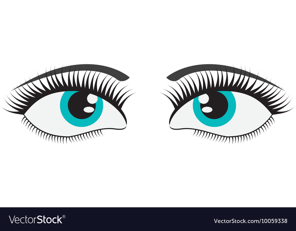 Female cartoon eyes icon