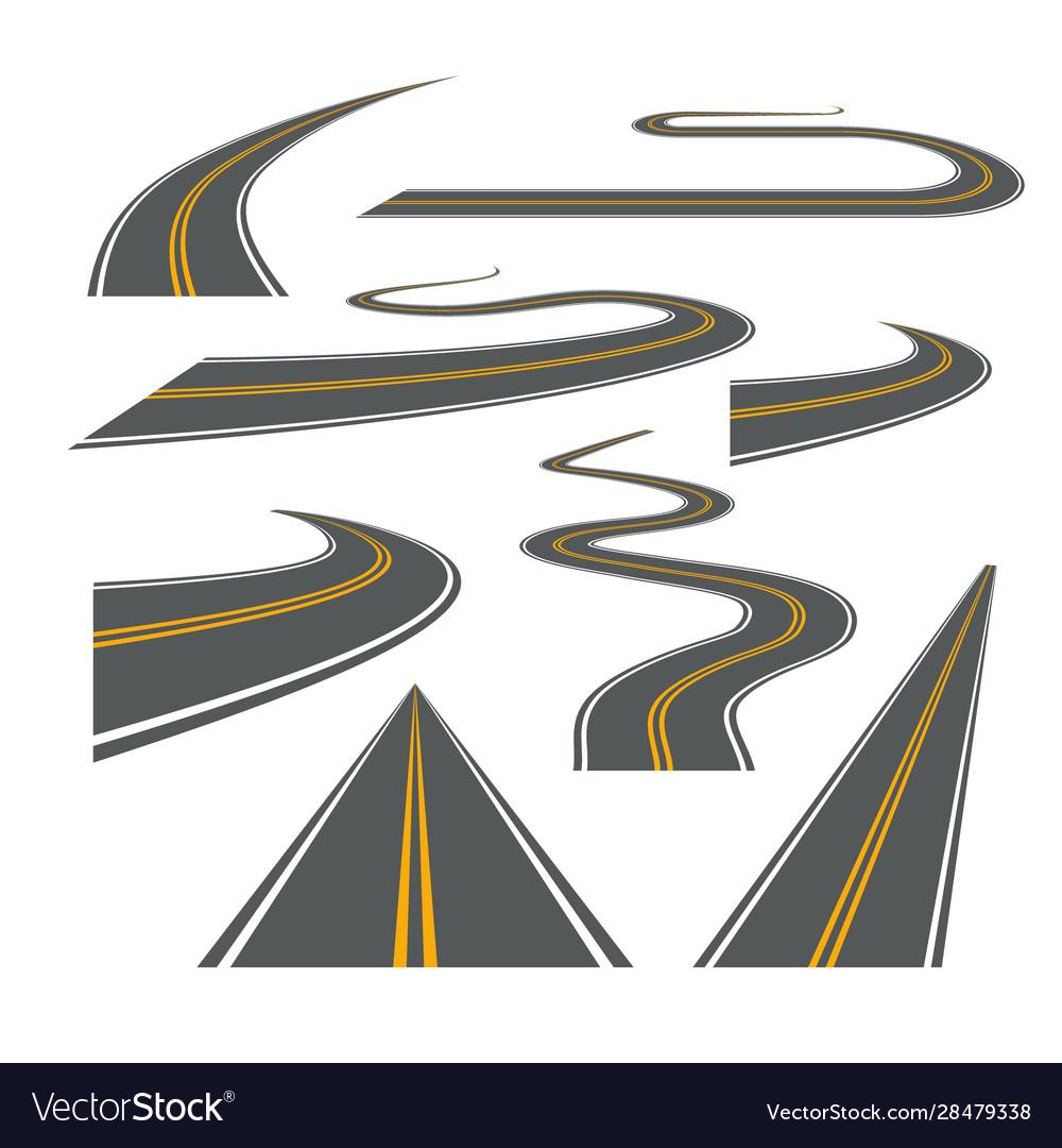 Road way winding journey highway
