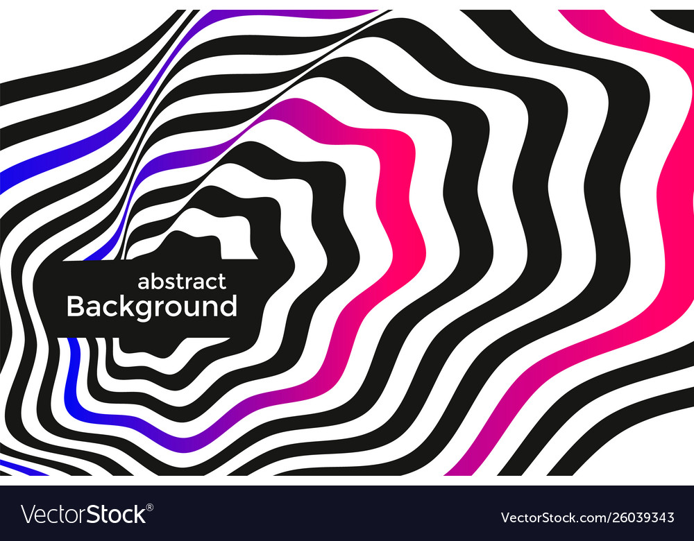 Black and white lines optical illusion background