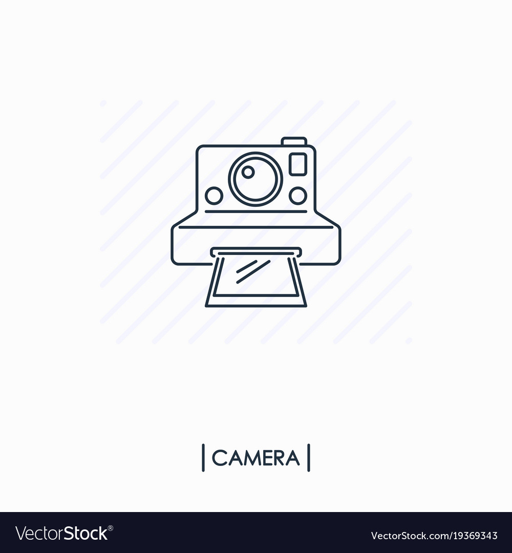 Camera outline icon isolated vector image