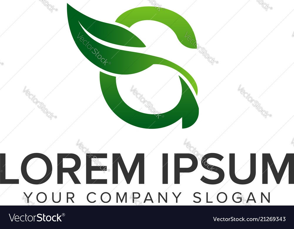 Letter g leaf logo design concept template fully
