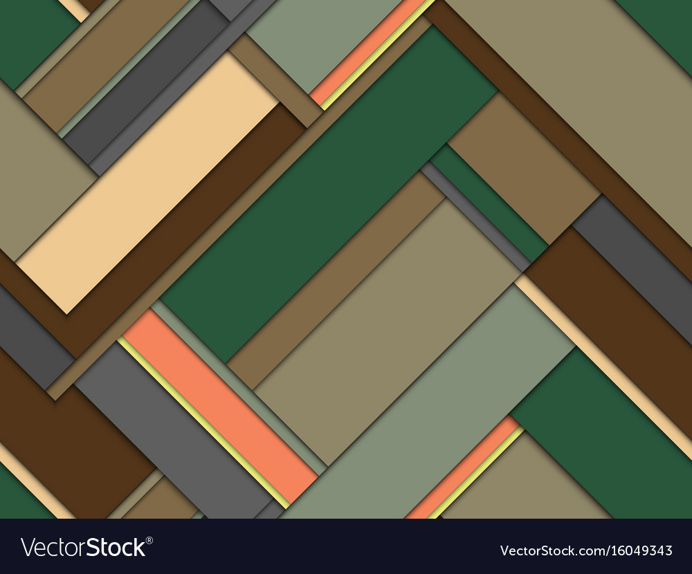 Seamless pattern of colored geometric stripes vector image