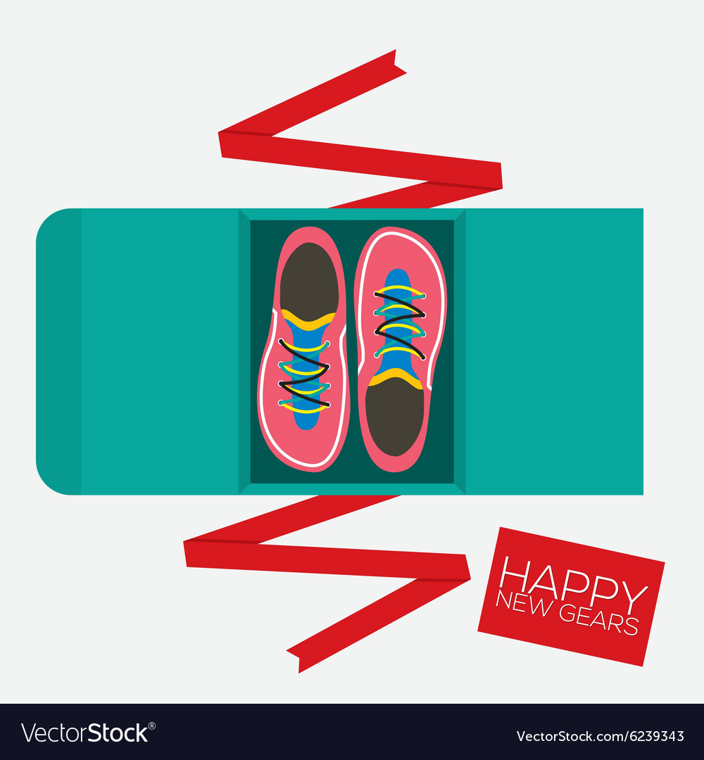 Top View Of Running Shoes Gift