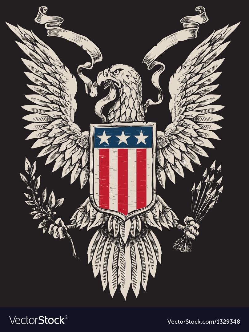 american eagle linework royalty free vector image