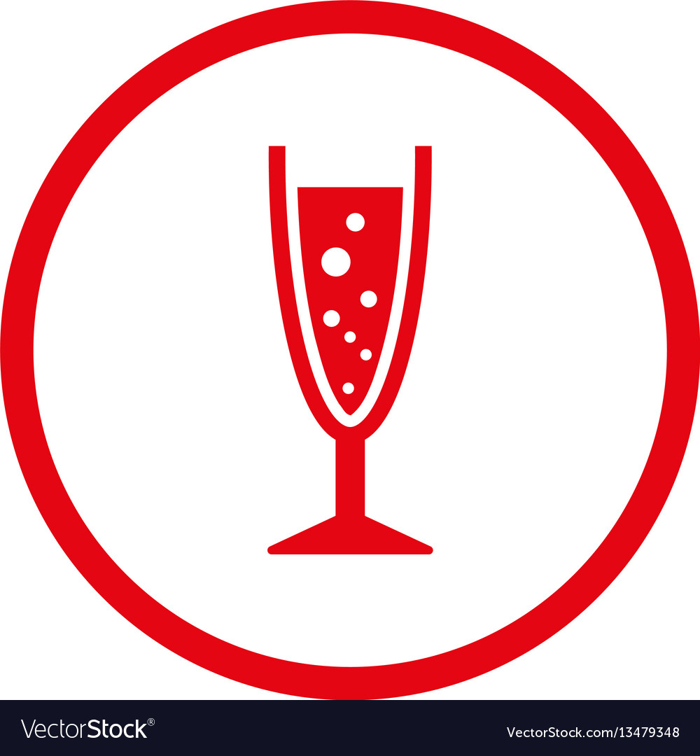 Champagne glass rounded icon