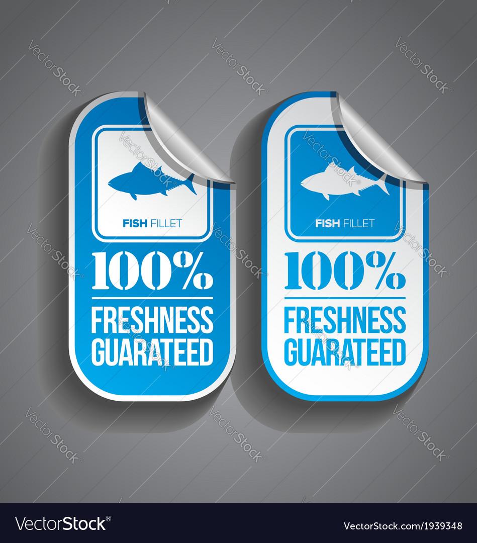 Food Sticker Fish vector image