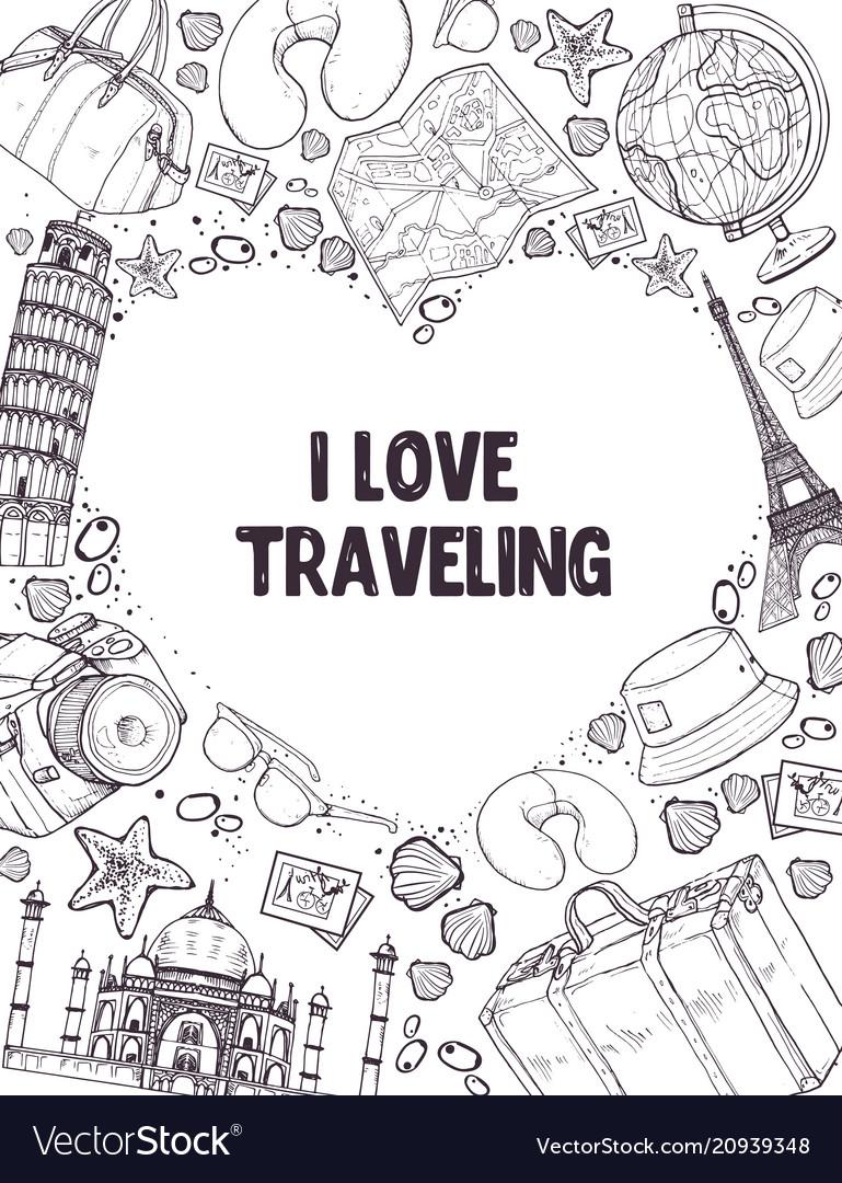 I love traveling poser