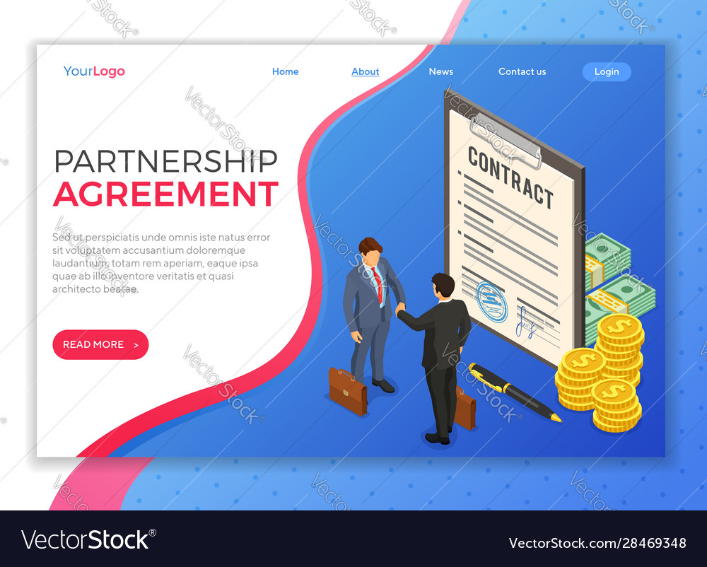 Partnership handshake business mans b2b
