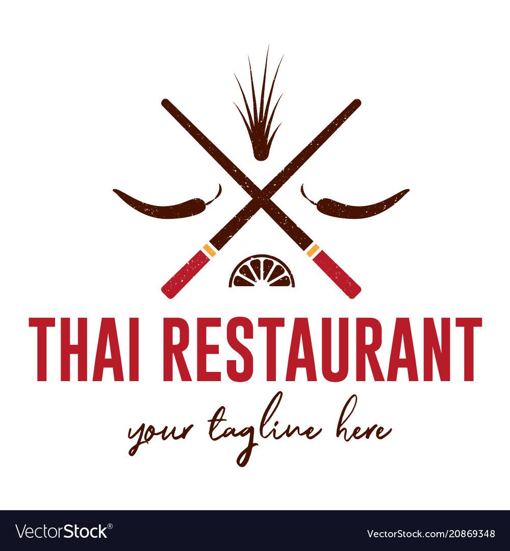 Thai Restaurant Logo Royalty Free Vector Image