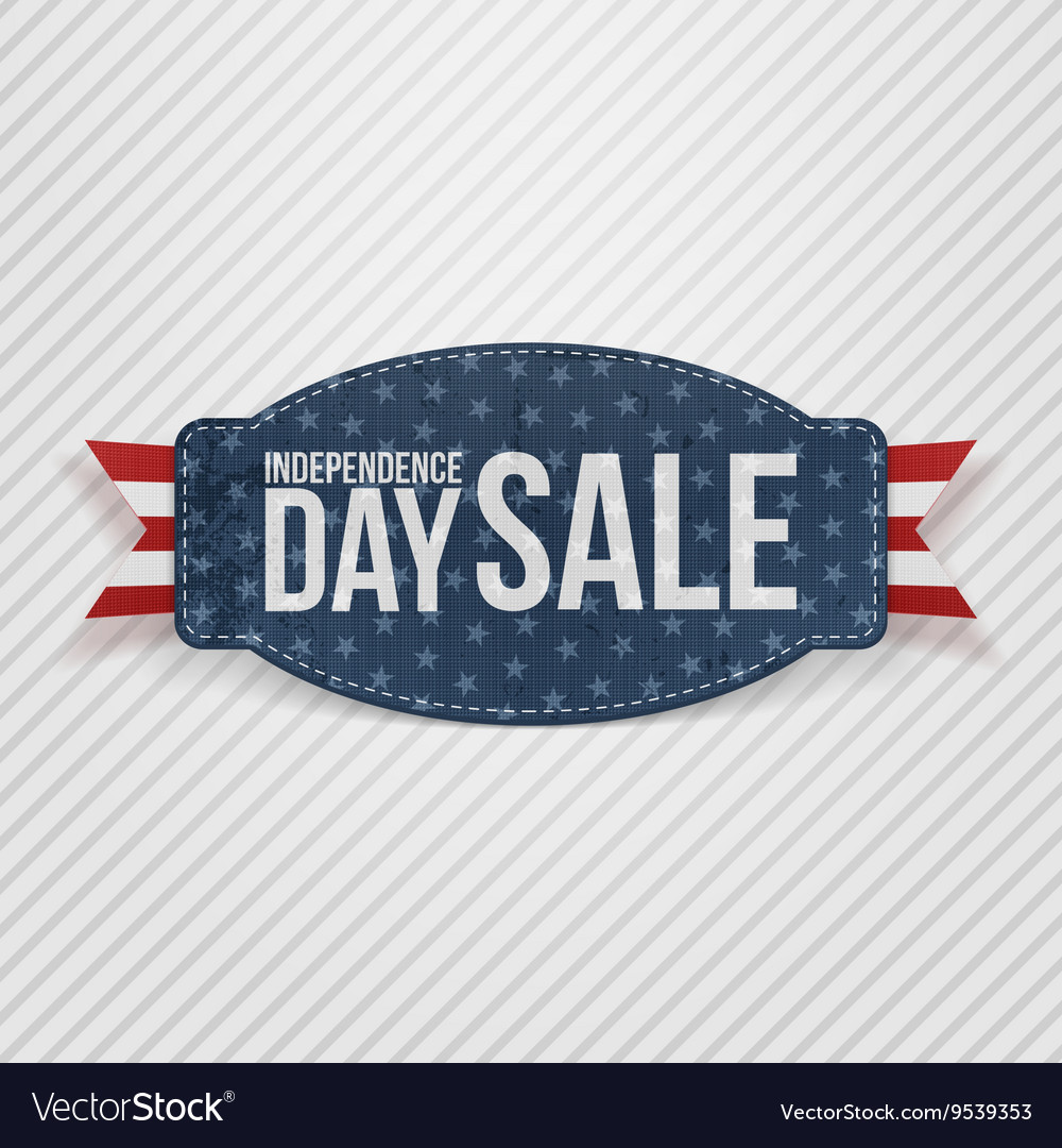 Independence Day Sale greeting Tag