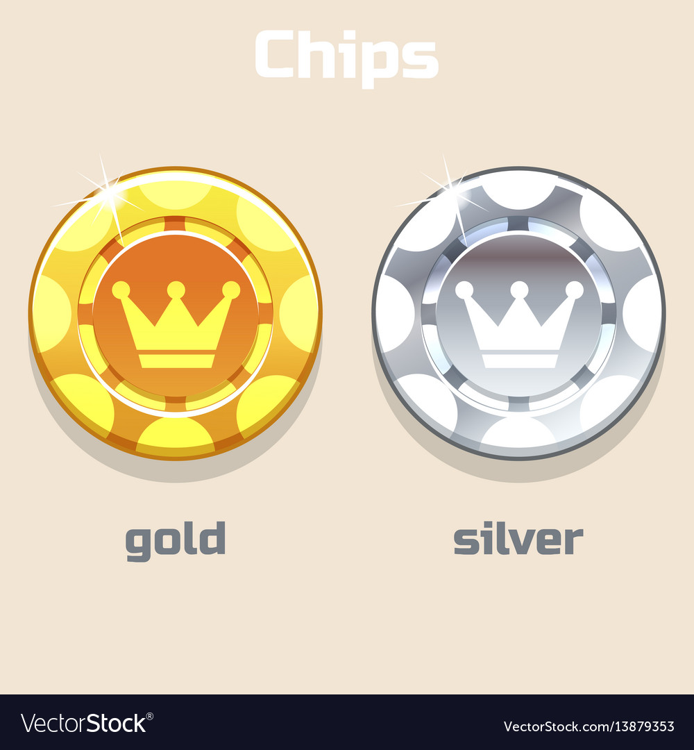 Poker gold and silver chips